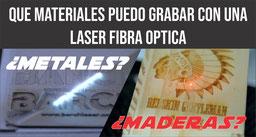 Que puedo grabar con un laser fibra optica?