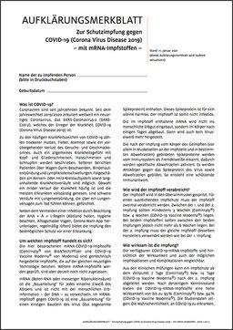 Aufklärungsmerkblatt Schutzimpfung