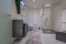 Das Badezimmer der Ferienwohnung in Bad Harzburg