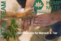 CBD Produkte für Mensch & Tier - CBD Produkte von HempMate kaufen - CBD Produkten  von HempMate vertreiben und damit  Geld verdienen