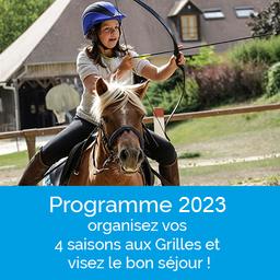 programme des stages poney et cheval aux Grilles en 2020