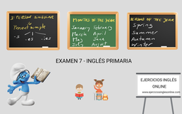 Examen 7 - primaria inglés