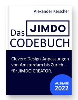 Das Codebuch für JIMDO Designanpassungen
