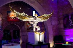 Drahtskulptur Großer Engel