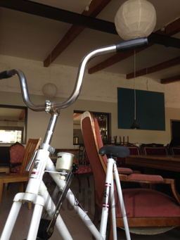 Le vélo de la brasserie artisanale et restaurant  de Saint-Alban-Leysse, Savoie.
