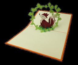carte pop-up renard, carte d'anniversaire pour enfants