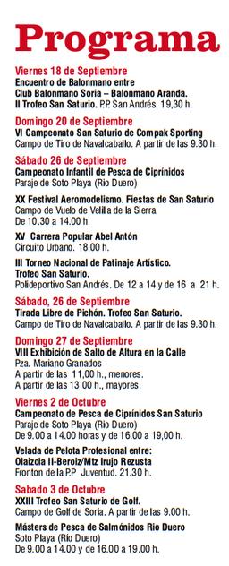 Fiestas de San Saturio 2015 en Soria