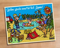 Van Bun Communicatie & Vormgeving - Internetgazet Lommel - Illustraties - Tekeningen - Grafisch ontwerp - Publiciteit - Reclame - Hittegolf in Lommel
