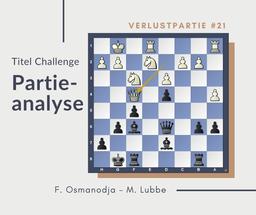 Partieanalyse Osmanodja-Lubbe, 2019