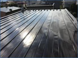 札幌北区屋根塗装の様子