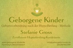 Geborgene Kinder Stefanie Gross HypnoBirthing Augsburg
