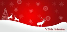 jagdliche Weihnachtskarte Silhoutte