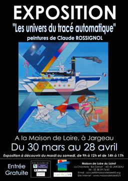 Claude Rossignol - Affiche Expo Jargeau 2018
