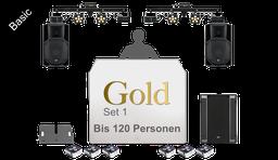 Paket Gold / DJ-,Ton- & Lichttechnik bis 120 Personen