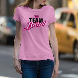 JGA-Shirt für Frauen Team Braut