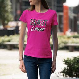 JGA-Shirt für Frauen Braut Crew Tropical