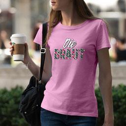 JGA-Shirt für Frauen Die Braut Tropical