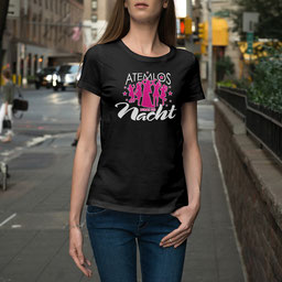JGA-Shirt für Frauen Atemlos durch die Nacht
