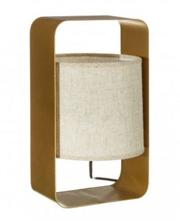 Lámpara sobremesa metal dorado