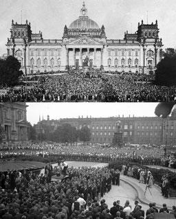Bildarchiv Preußischer Kulturbesitz und Bundesarchiv - Proteste vor dem Reichstag & im Berliner Lustgarten