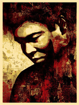 Shepard fairey Ali Canvas Print