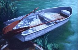 Boot, Ruderboot, pastell, orginale, kunst kaufen, thea Herzig