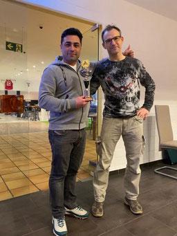 Dortmunder Meister 2019 Paul Rasputnis, hier mit Turnierleiter Peter Haßelberg