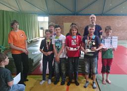 Sieger & Zweitplatzierte des Schul-Go-Mannschaftspokals