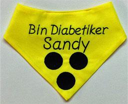 Blinden Logo, blinder Hund, Halstuch für blinden Hund,neongelb, diabetiker, Halsband, Loop, Blinder Hund, Blindenhund, Halstuch, Blindenhalstuch, Blindenbegleithund