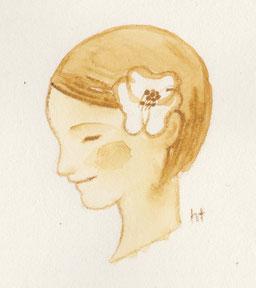 とある作品のための挿絵 ©︎ Hanae Tanazawa 2015