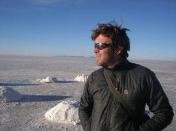 Papa ... 7 ans plus tôt au Salar d'Uyuni (Bolivie)