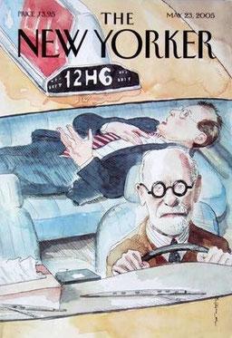 """Wer sagt, wo es lang geht? Cover-Titel der Zeitschrift """"The New Yorker"""" 2005."""