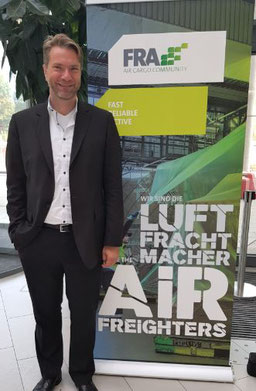 Joachim von Winning, Managing Director of Frankfurt's Air Cargo Community welcomed 220 attendees to the event  -  photo: hs