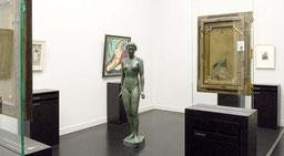 Blick in die Ausstellungsräume in Mannheim