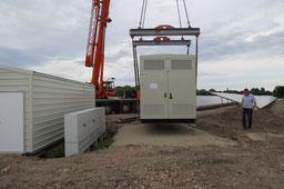Aufstellung einer 2,5 MW Trafostation