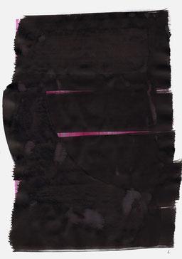 """""""Aufschrei 03:36 Uhr"""", 2015, 48 x 36cm"""
