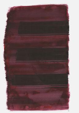 """""""Aufschrei 12:27 Uhr"""", 2017, 48 x 36cm"""