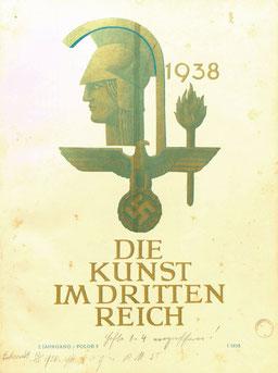 """Cover: """"Die Kunst im Dritten Reich"""", 2. Jahrgang, 1938"""