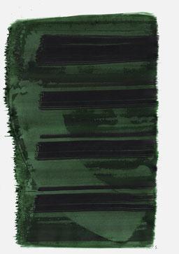 """""""Aufschrei 10:17 Uhr"""", 2015, 48 x 36cm"""