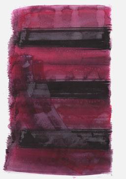 """""""Schrei 08:17 Uhr"""", 2017, 48 x 36cm"""