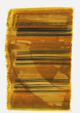 """""""Aufschrei 11:55 Uhr"""", 2015, 48 x 36cm"""