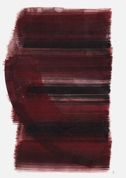 """""""Aufschrei 19:35 Uhr"""", 2015, 48 x 36cm"""