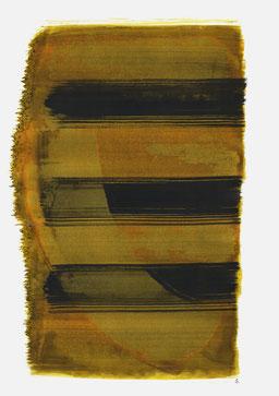 """""""Aufschrei 14:38 Uhr"""", 2016, 48 x 36cm"""