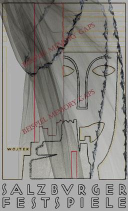 Skizze nach dem Original-Entwurf von Wojtek 1928, als Beispiel für eine temporäre Logo-Umgestaltung.