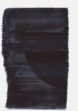 """""""Aufschrei 01:09 Uhr"""", 2015, 48 x 36cm"""