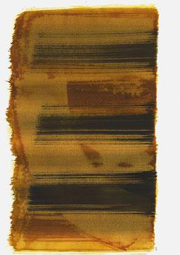 """""""Aufschrei 10:19 Uhr"""", 2016, 48 x 36cm"""