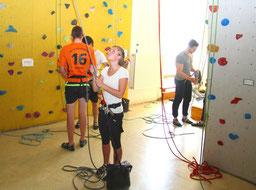 Klettern ist Bestandteil des Studiengangs Sport- und Eventmanagement