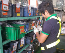 Warehouseman prepare items
