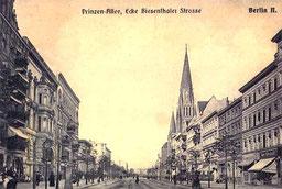 Die Prinzenallee um  1910