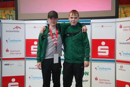 Benito (li.) und Ricco vertraten unseren Verein bei der Deutschen Meisterschaft